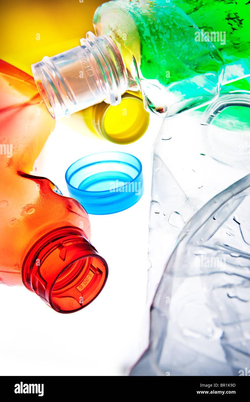 Riciclare materie plastiche Immagini Stock