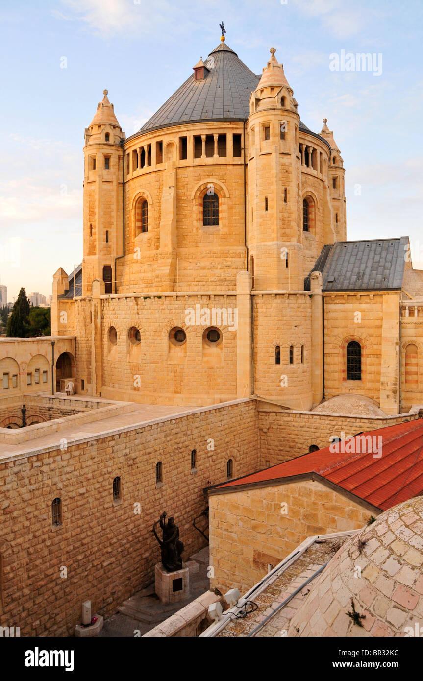 Chiesa della Dormizione sul monte Sion e a Gerusalemme, Israele, Medio Oriente, l'Orient Immagini Stock
