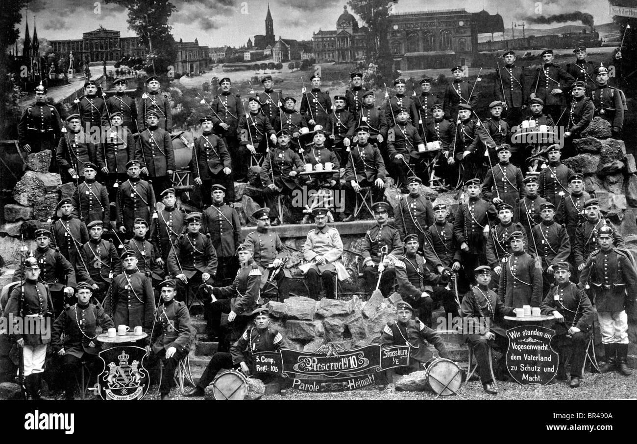 Immagine storica, soldati riservisti, ca. 1910 Immagini Stock