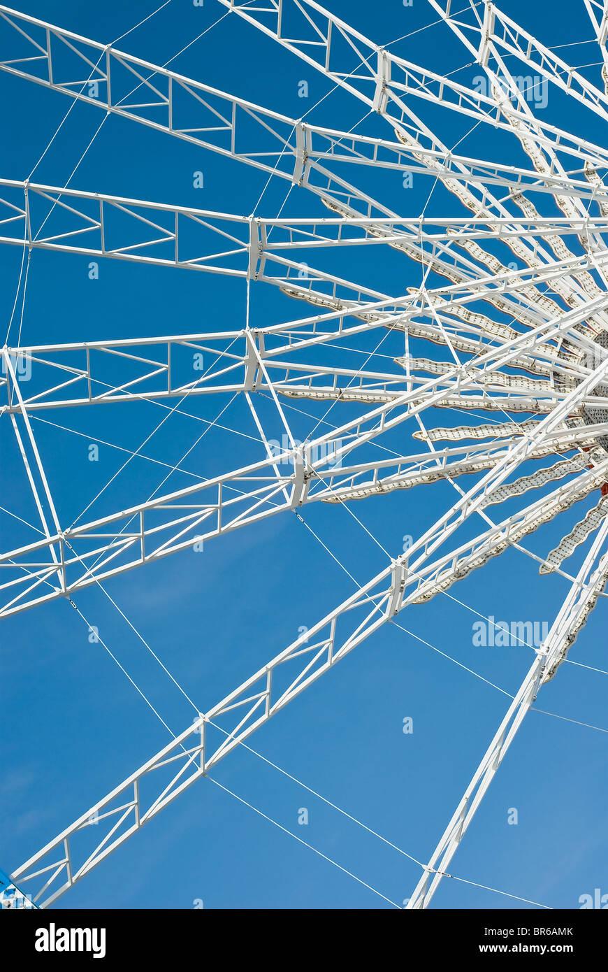 Ruota panoramica Ferris come disegno astratto modello di elemento Immagini Stock