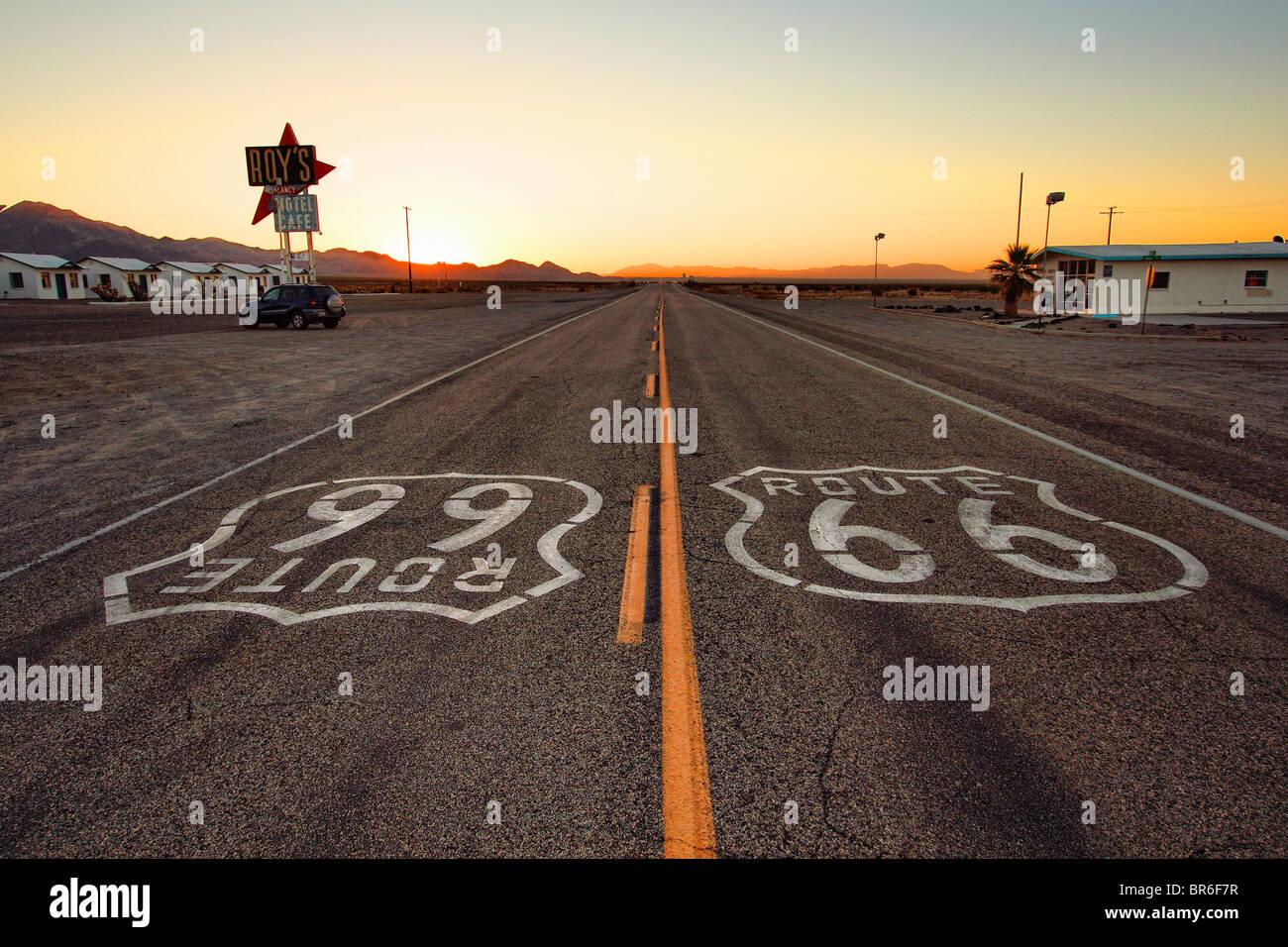 Vecchi Route 66, CALIFORNIA, STATI UNITI D'AMERICA Immagini Stock