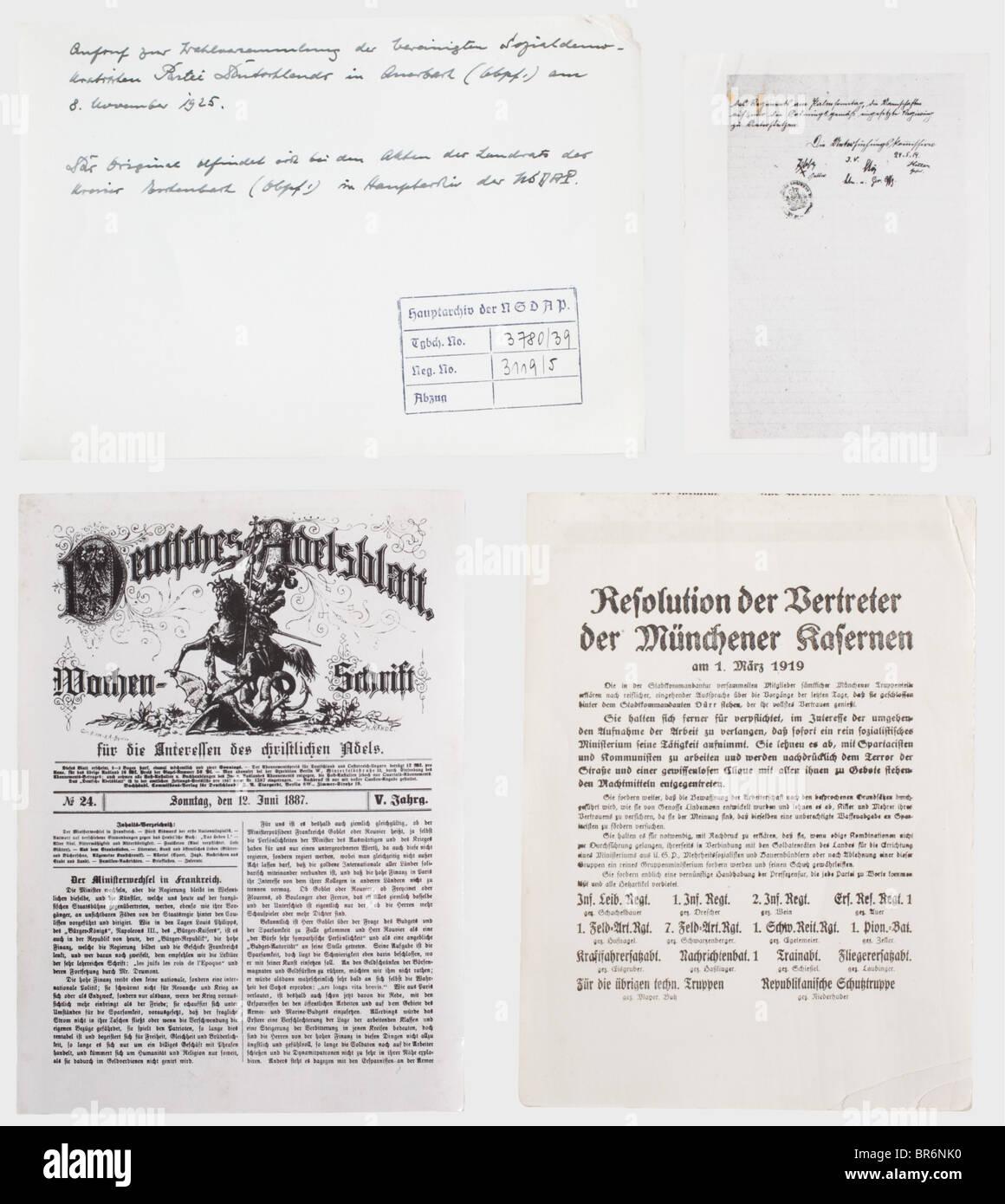 Più di 500 fotografie da archivio centrale della NSDAP., varie dimensioni, quasi tutte le foto hanno il timbro Immagini Stock