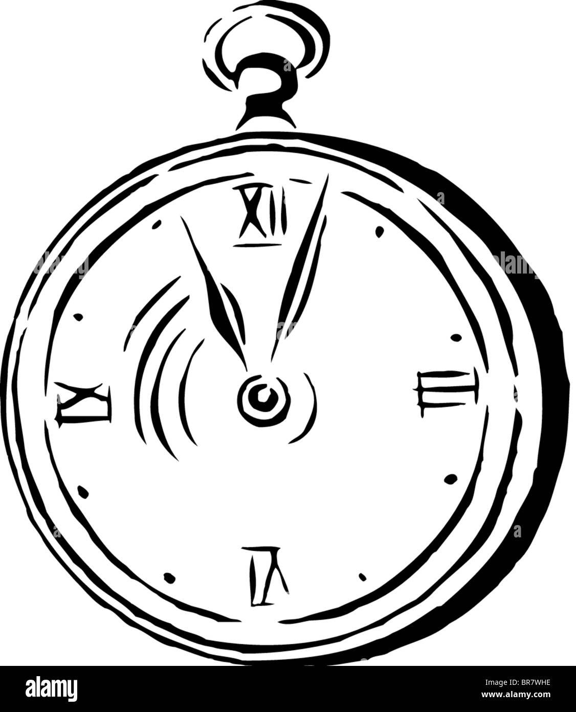 Disegno Di Un Orologio Da Tasca Foto Immagine Stock 31521210 Alamy