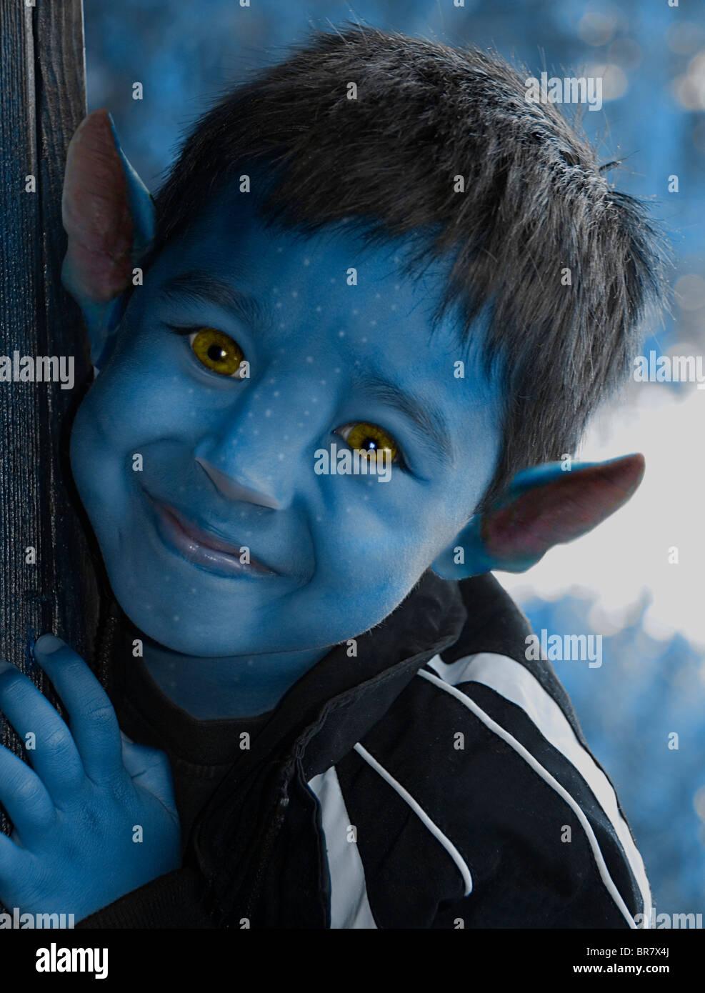 Un giovane ragazzo di avatar. Immagini Stock