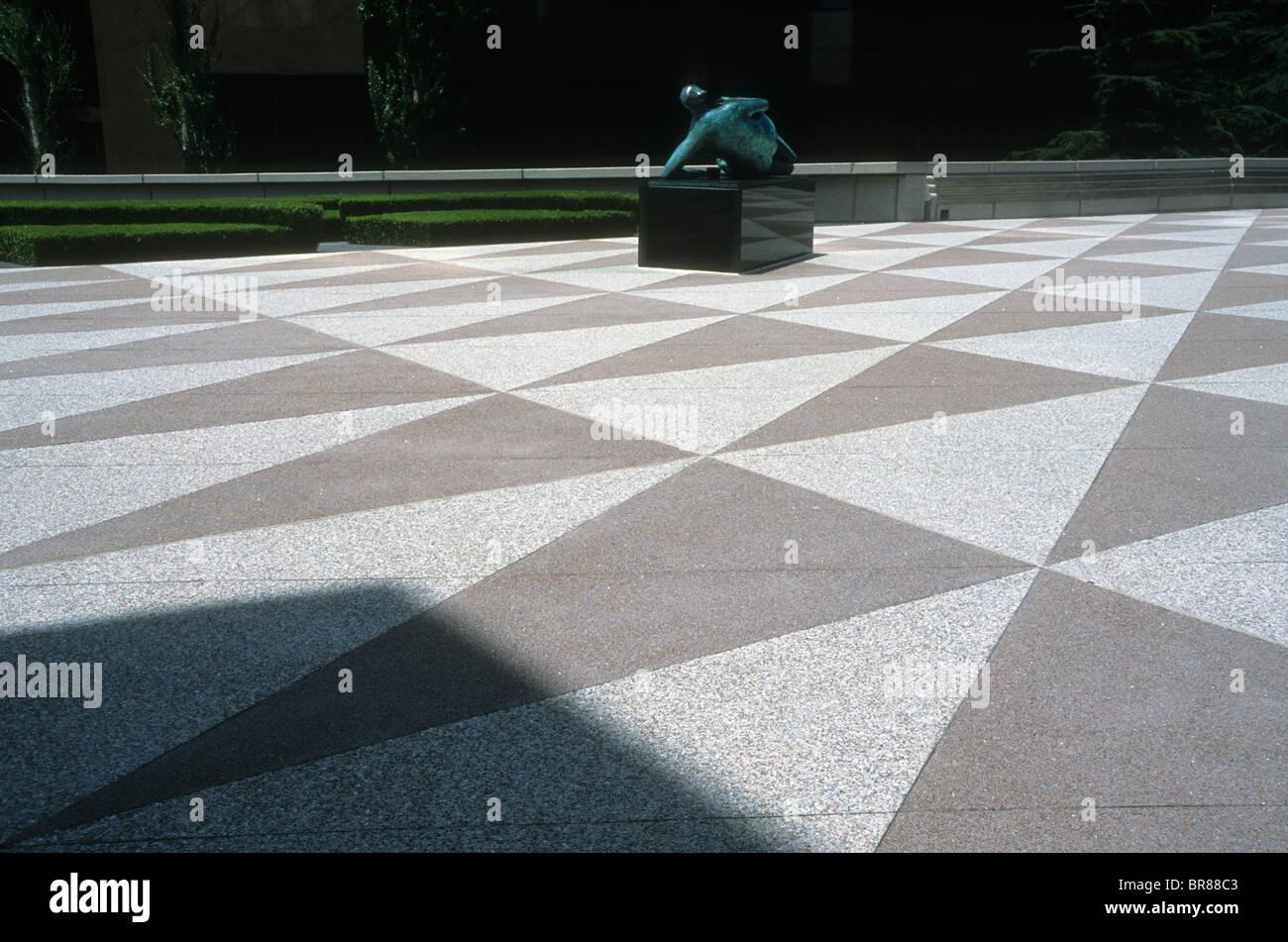 Triangle math pattern design misurare piastrelle per pavimento plaza