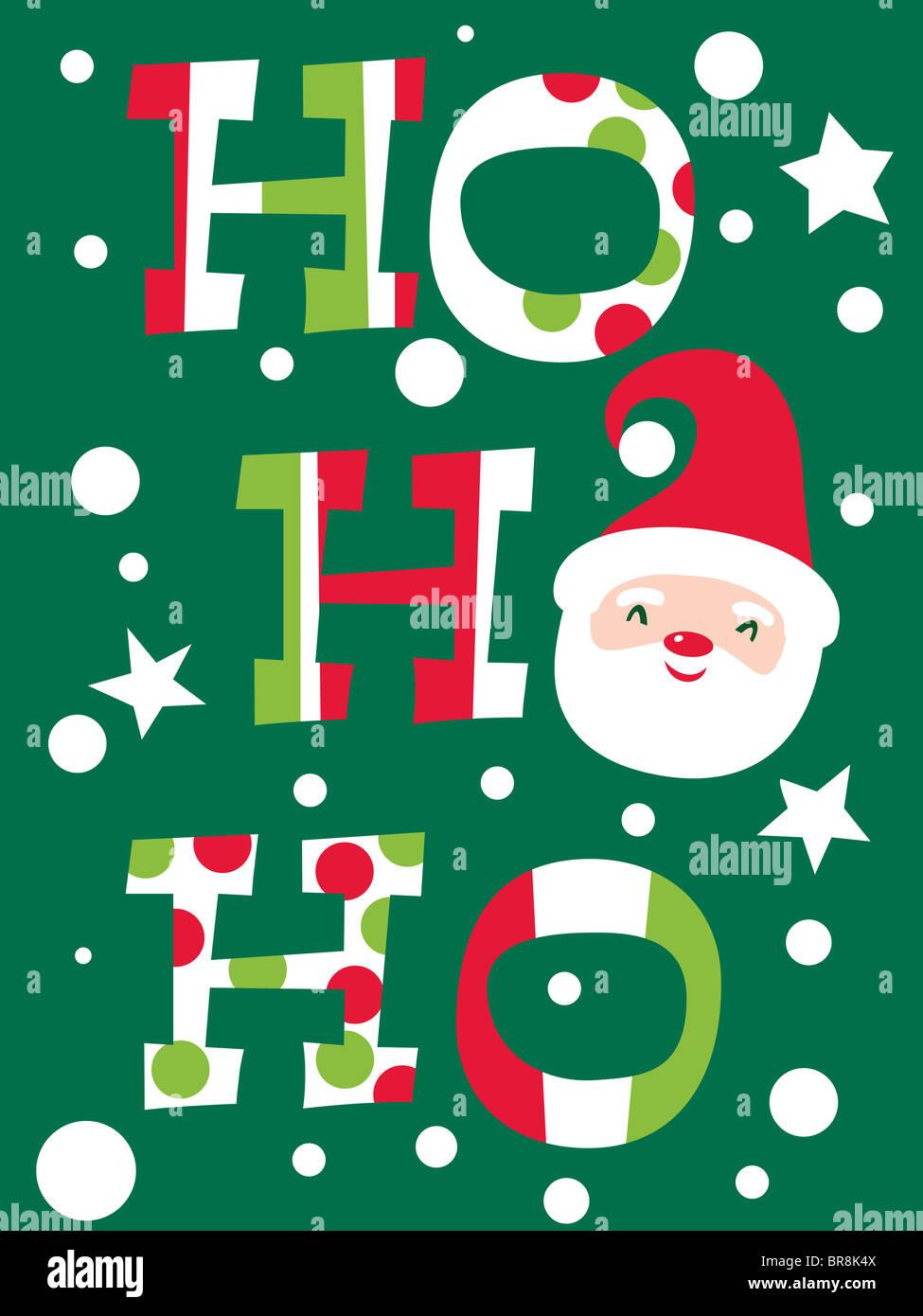 Babbo Natale Ho Ho Ho.Un Natale In Base Illustrazione Con Le Parole Ho Ho Ho E Un Immagine
