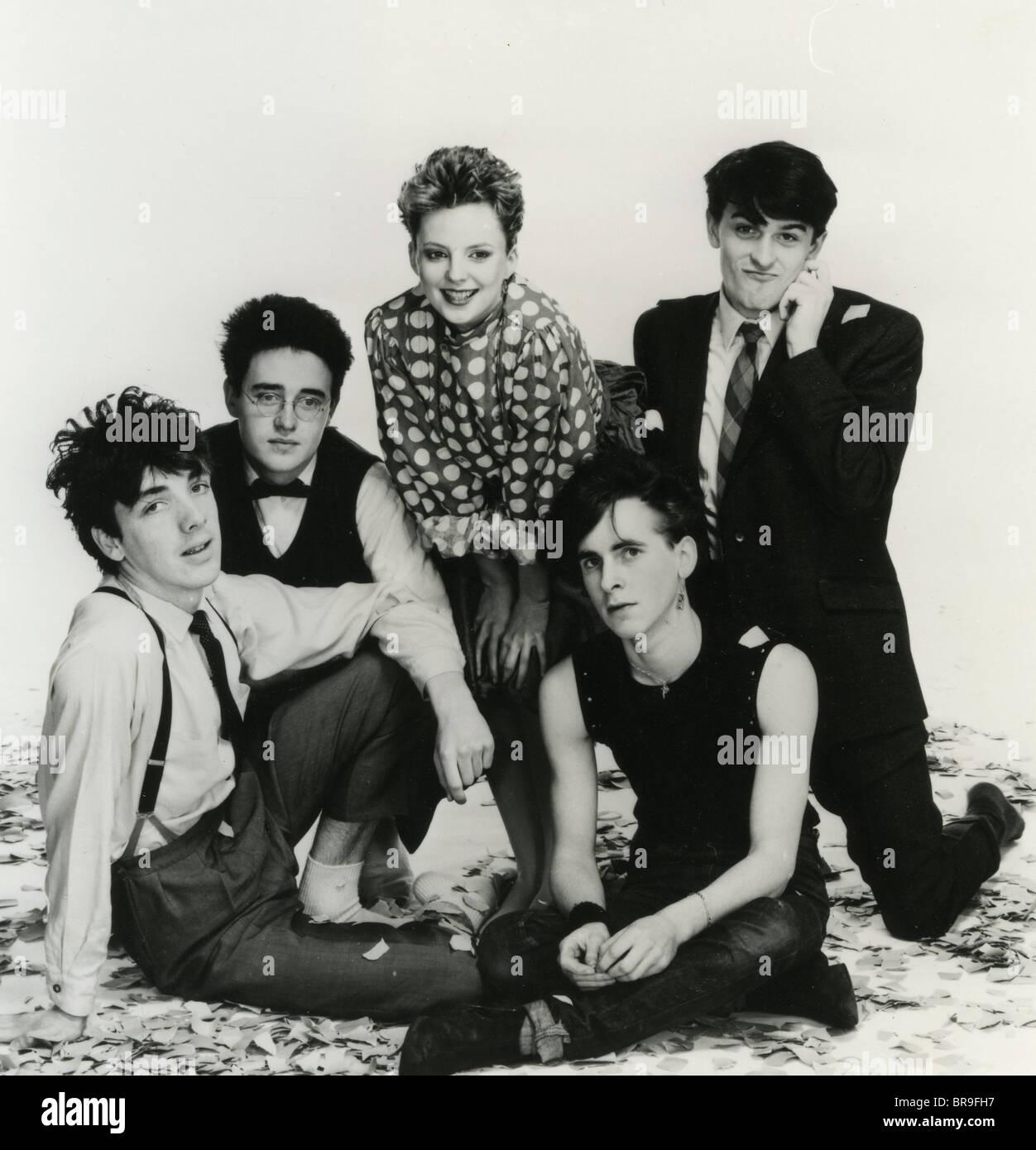 Le immagini modificate foto promozionale degli anni ottanta Scottish nuova ondata di gruppo con cantante Clare Grogan Immagini Stock