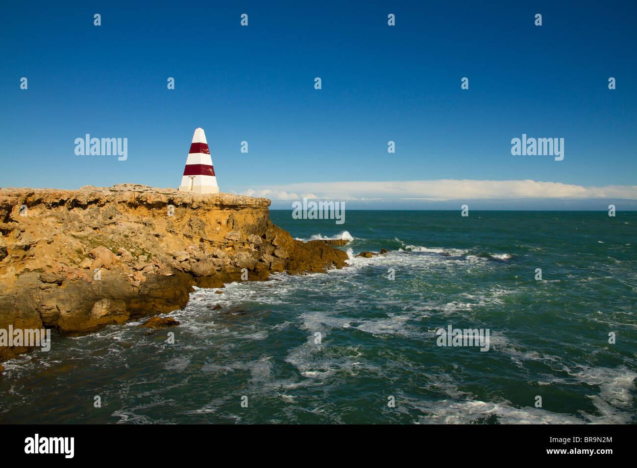 L'Obelisco in accappatoio in South Australia è stato usato come un punto di navigazione che guida le navi Immagini Stock