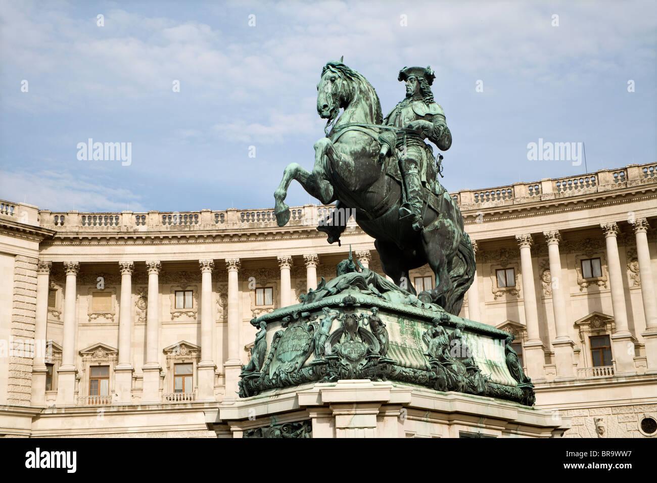 Vienna - l'imperatore Franz Joseph I - punto di riferimento Immagini Stock