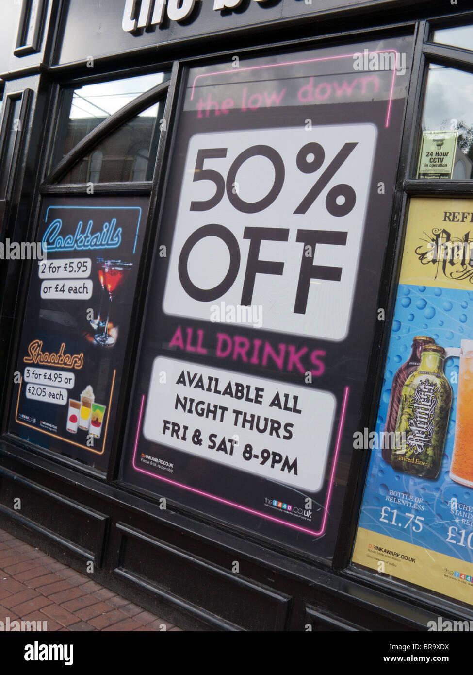 A buon mercato bevande alcoliche Immagini Stock