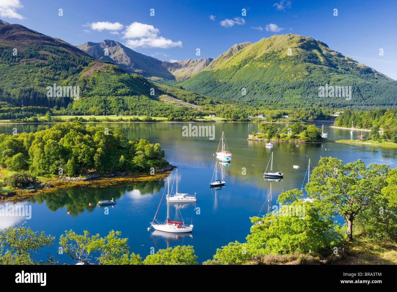 Vescovi Bay, Loch Leven, Highland, Scotland, Regno Unito. Immagini Stock