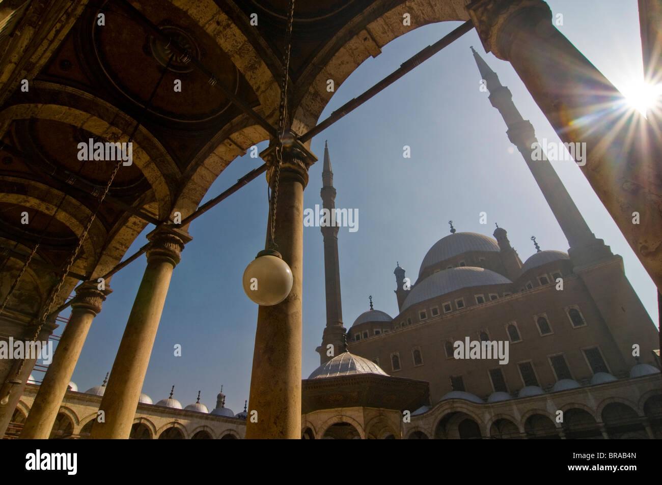 La moschea di Mohammed Ali al Cairo, Egitto, Africa Settentrionale, Africa Immagini Stock