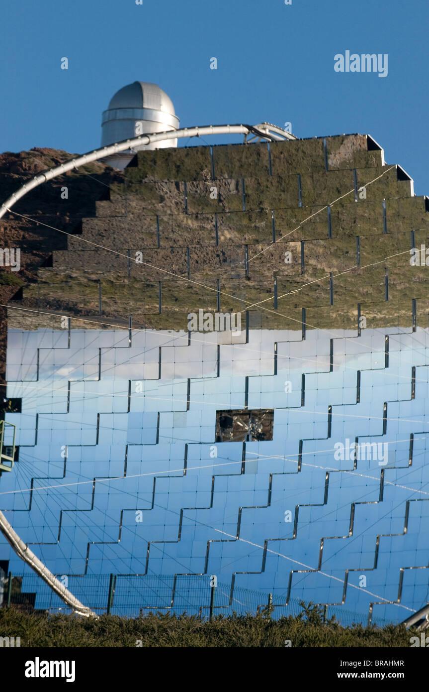 Osservatorio astronomico in cima al Taburiente, La Palma Isole Canarie Spagna, Europa Immagini Stock