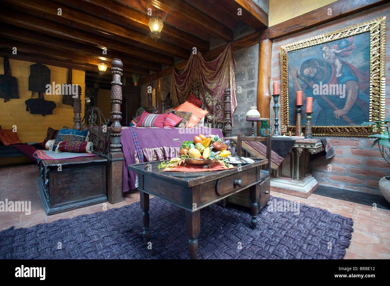 Rumi Loma hotel, Quito Ecuador Immagini Stock