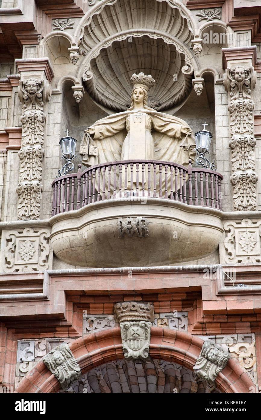 La Merced Chiesa de La Union Street nel centro di Lima distretto, Lima, Peru Immagini Stock
