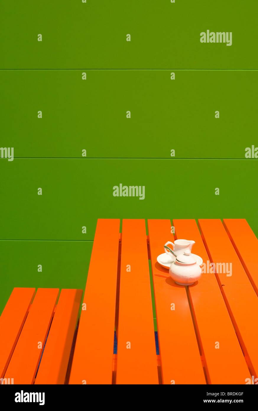 Orange mobili da giardino Immagini Stock