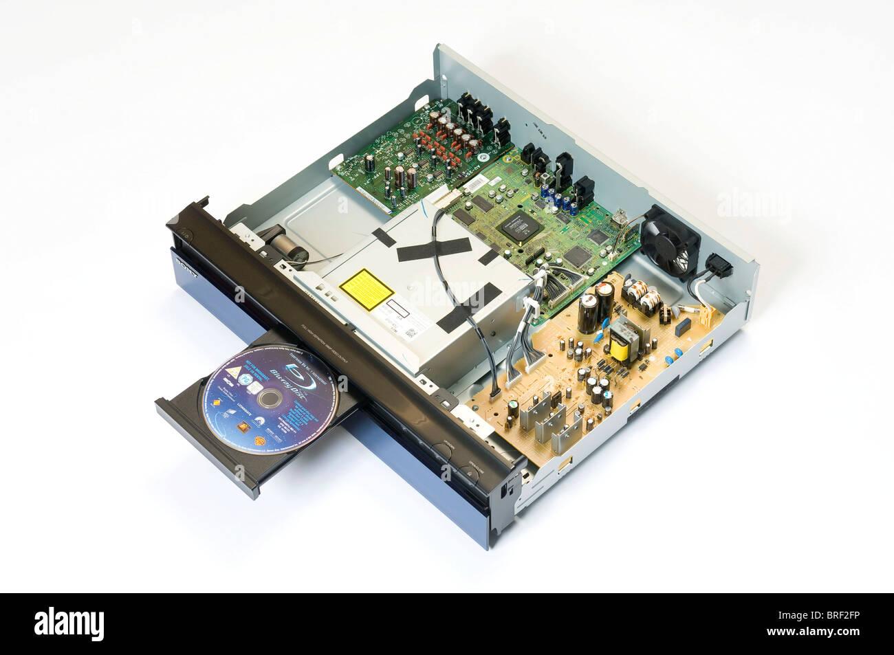 DVD Sony Lettore Blu-ray Immagini Stock