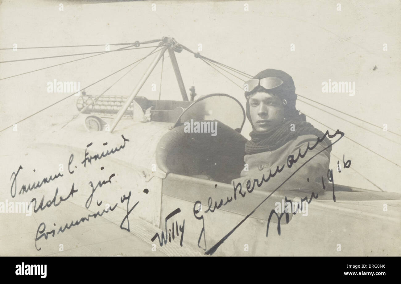 Ernst Udet - sette album di foto da Udet i beni, principalmente immagini dal periodo della prima guerra mondiale Immagini Stock