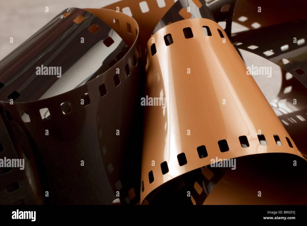 La fotografia pellicola 35mm, noto anche come formato 135. Immagini Stock