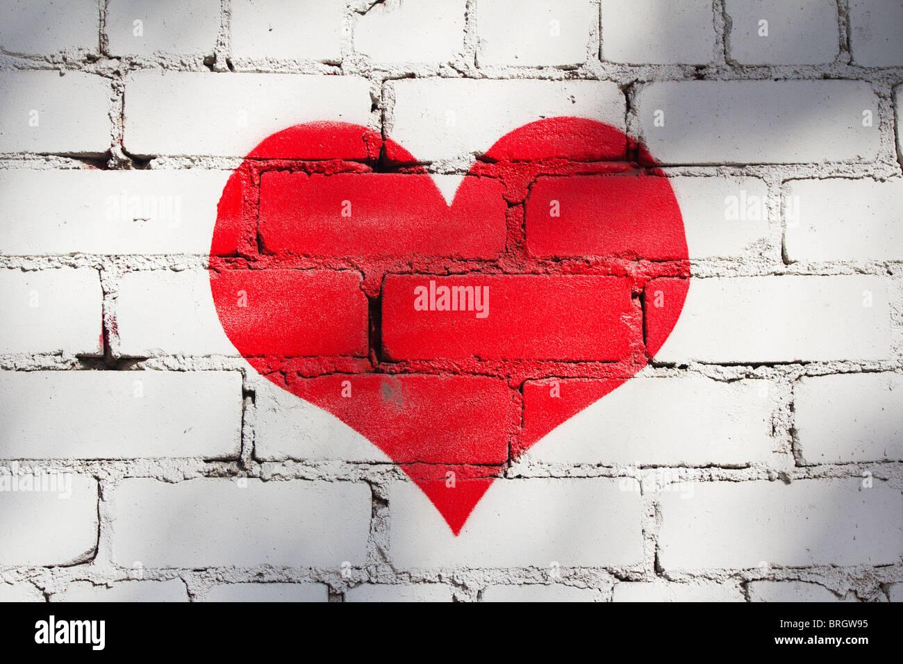 Graffiti del cuore Immagini Stock