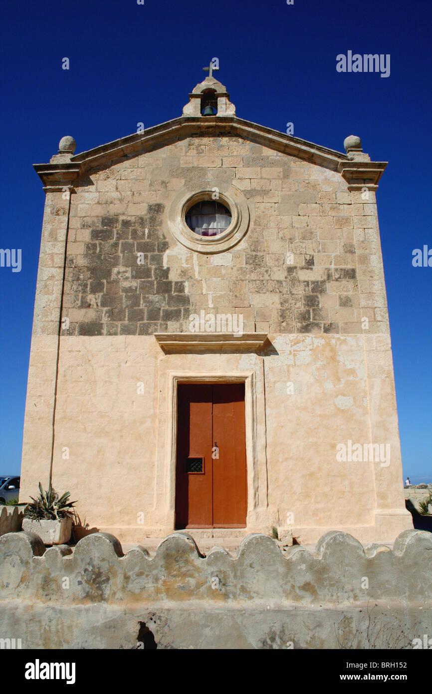 Una piccola cappella nella parte settentrionale di Gozo Malta off Immagini Stock