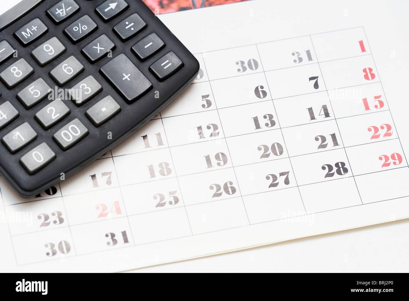 Calcolo Giorni Calendario.Calcolatrice Sul Calendario Giorni A Sinistra Il Concetto