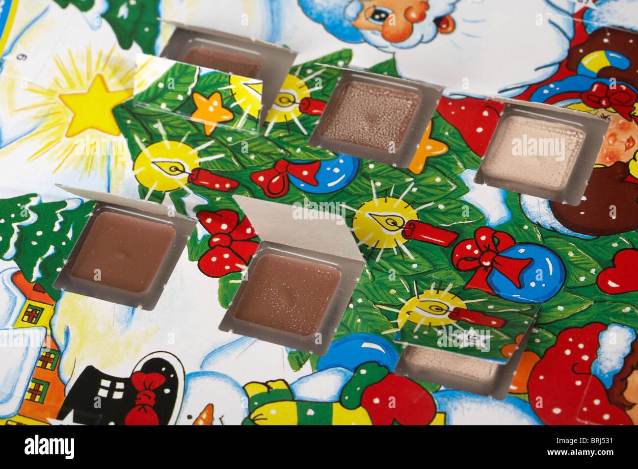 Il Cioccolato Calendario Dellavvento Con Porte Aperte Foto