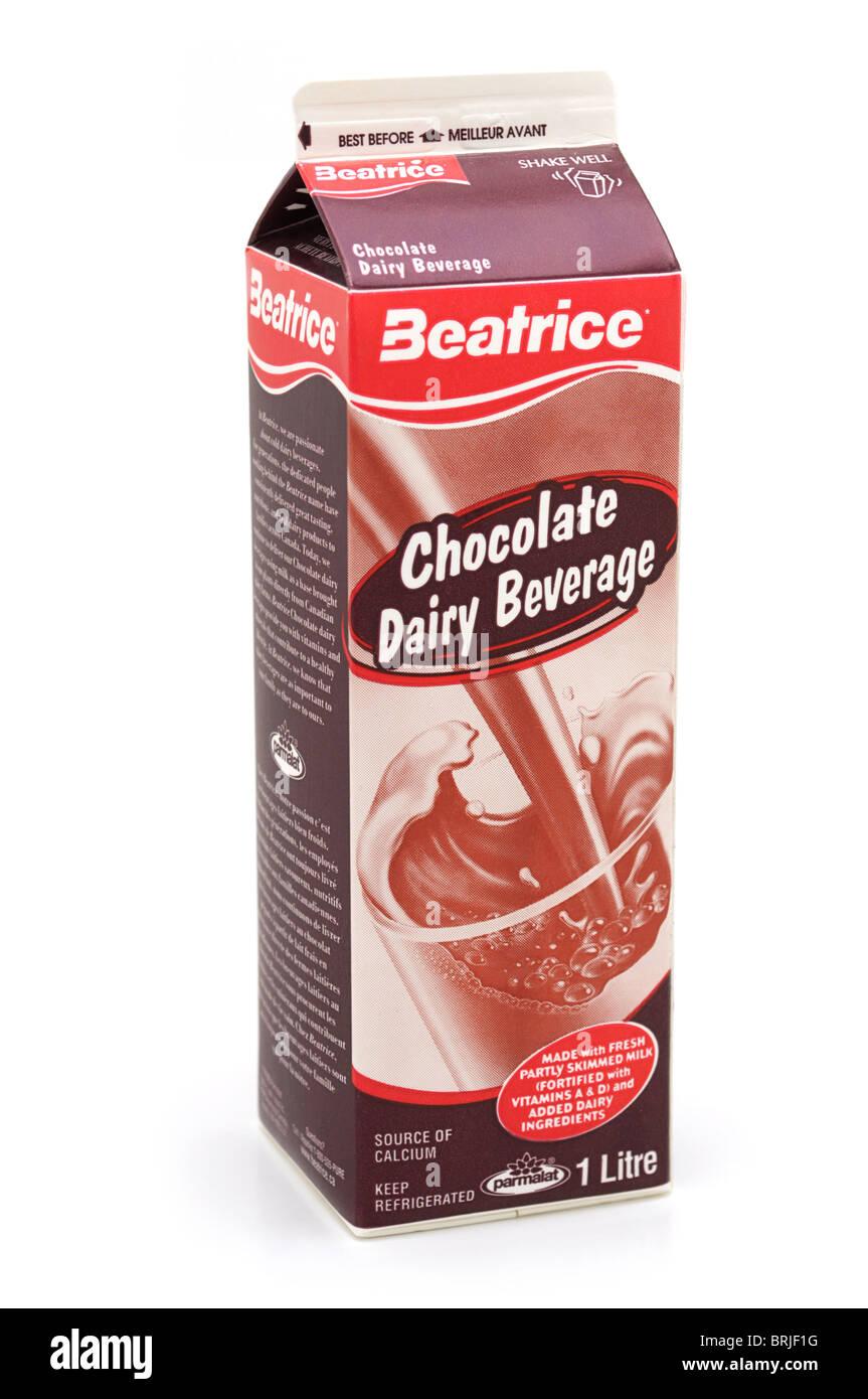Stecca di cioccolato freddo bevanda lattiero-casearia Immagini Stock