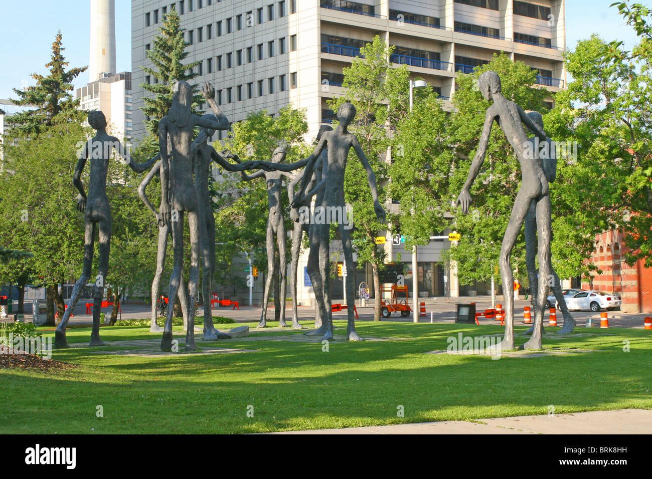 Famiglia di uomo, Calgary, Alberta, Canada Immagini Stock