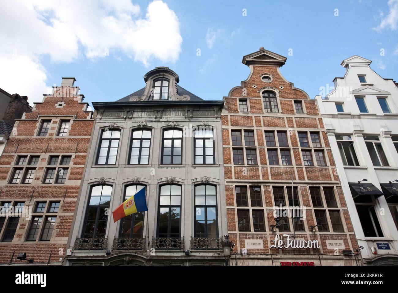 Rue de la Montagne liberty e art deco case sulle vie centrali di Bruxelles, Belgio. Foto:Jeff Gilbert Immagini Stock
