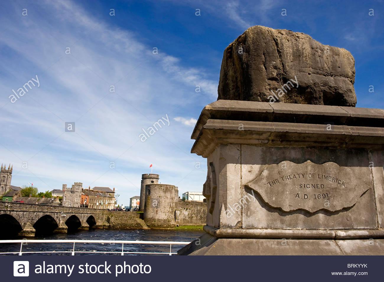 Il trattato di Limerick pietra. Immagini Stock