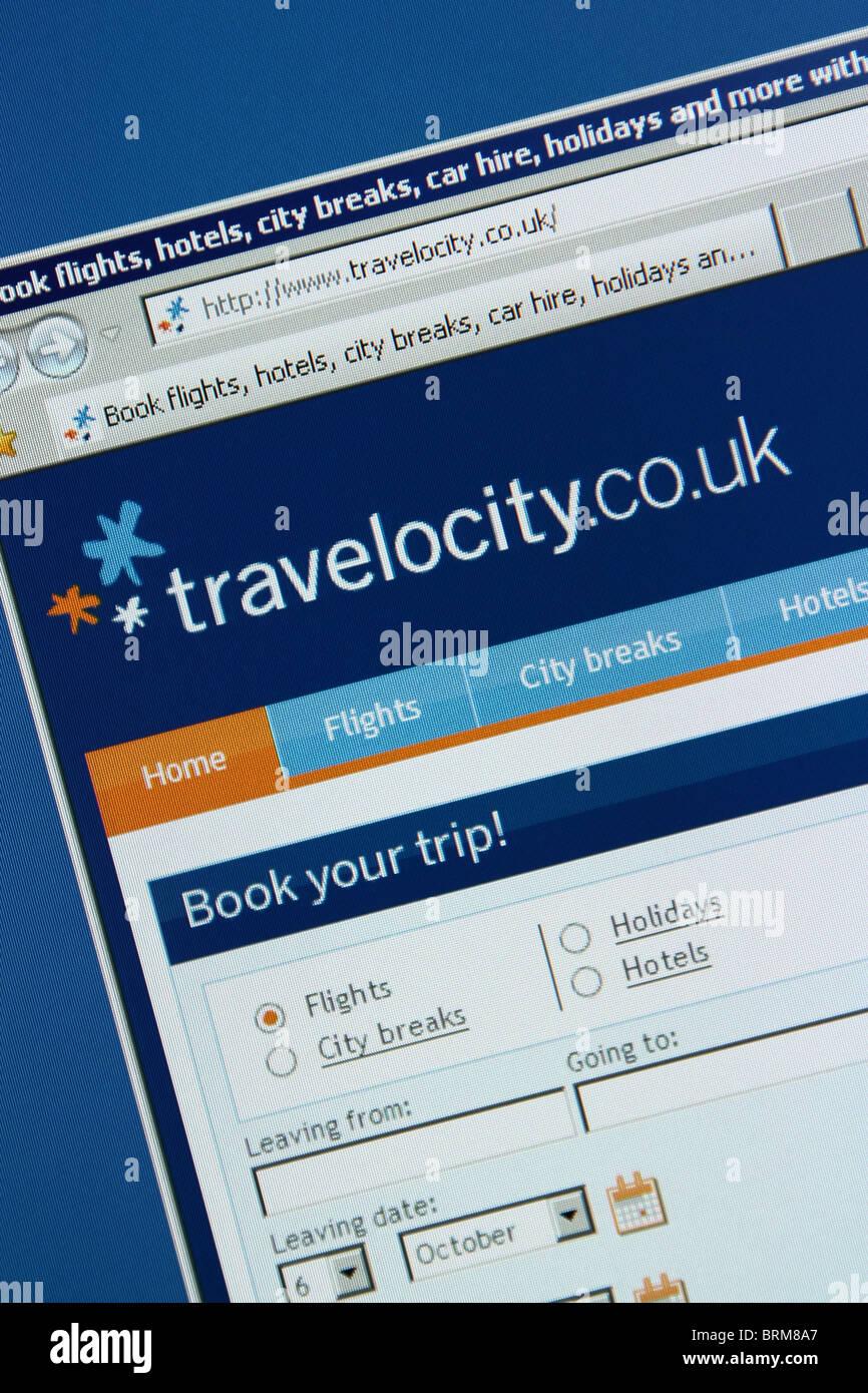 Prenotazione viaggi online travelocity Immagini Stock
