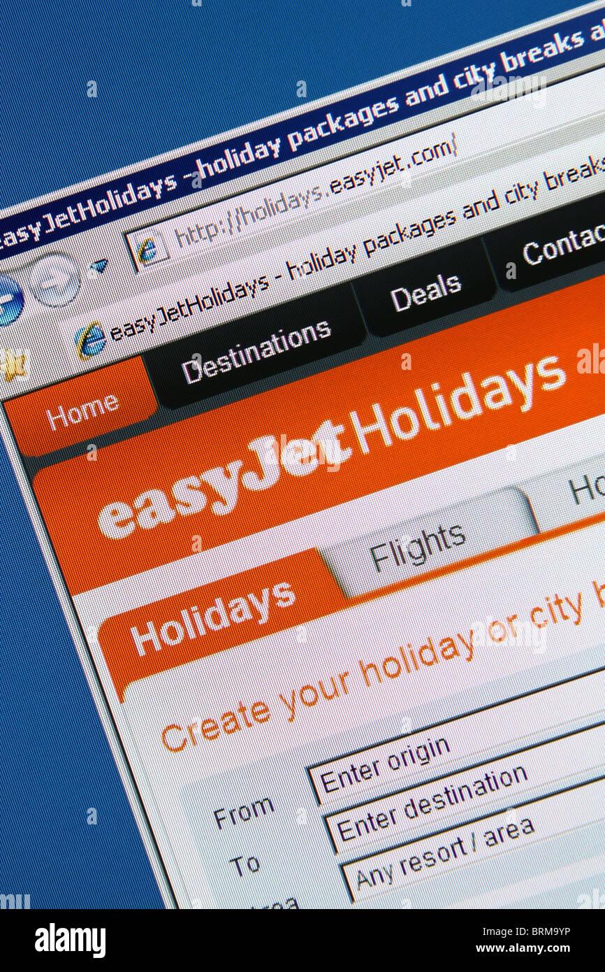 Online prenotazione di viaggi easyjet holidays Immagini Stock