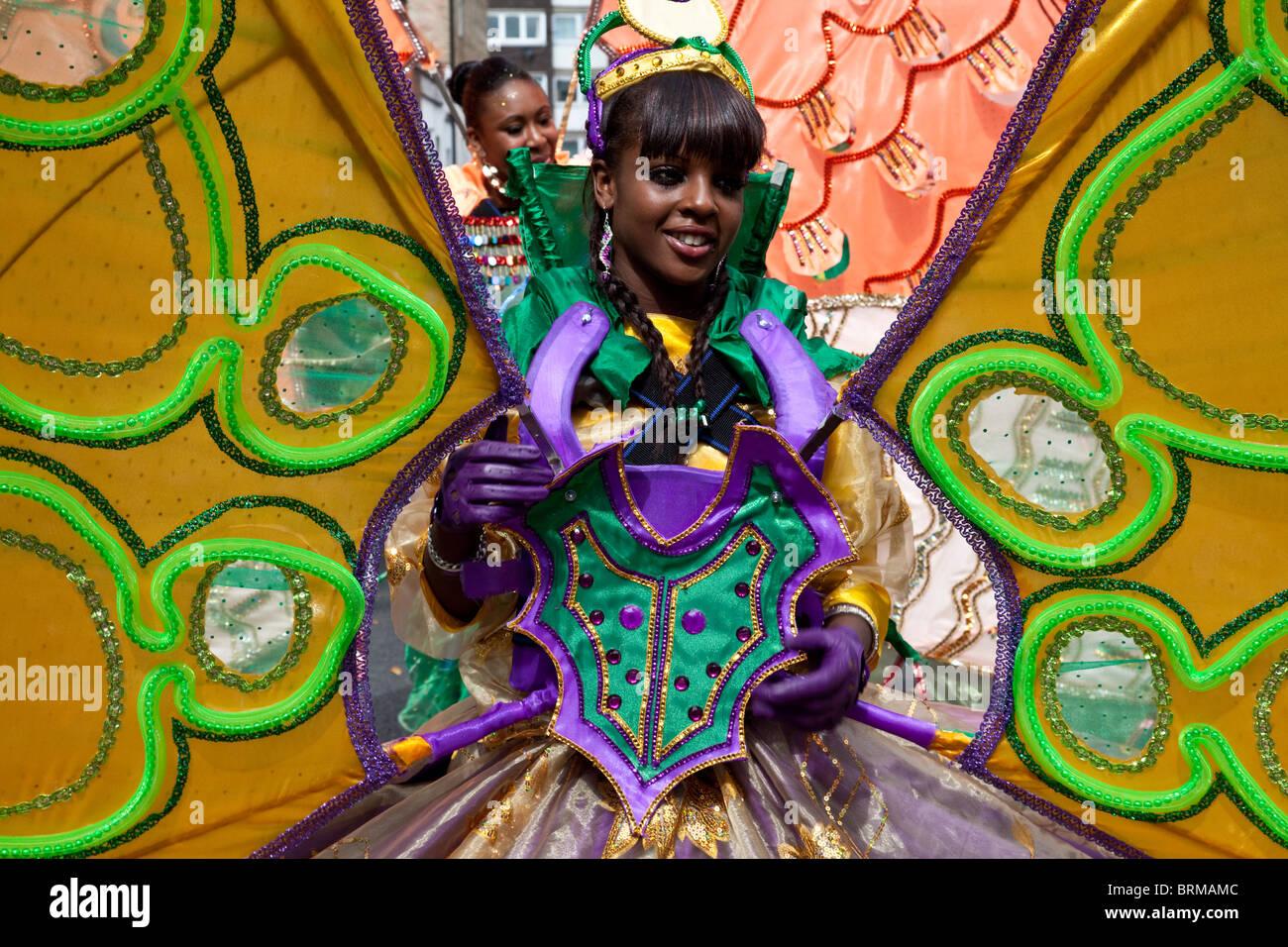 Carnevale di Notting Hill 2010, (più grande d'Europa) di Londra - Inghilterra Immagini Stock