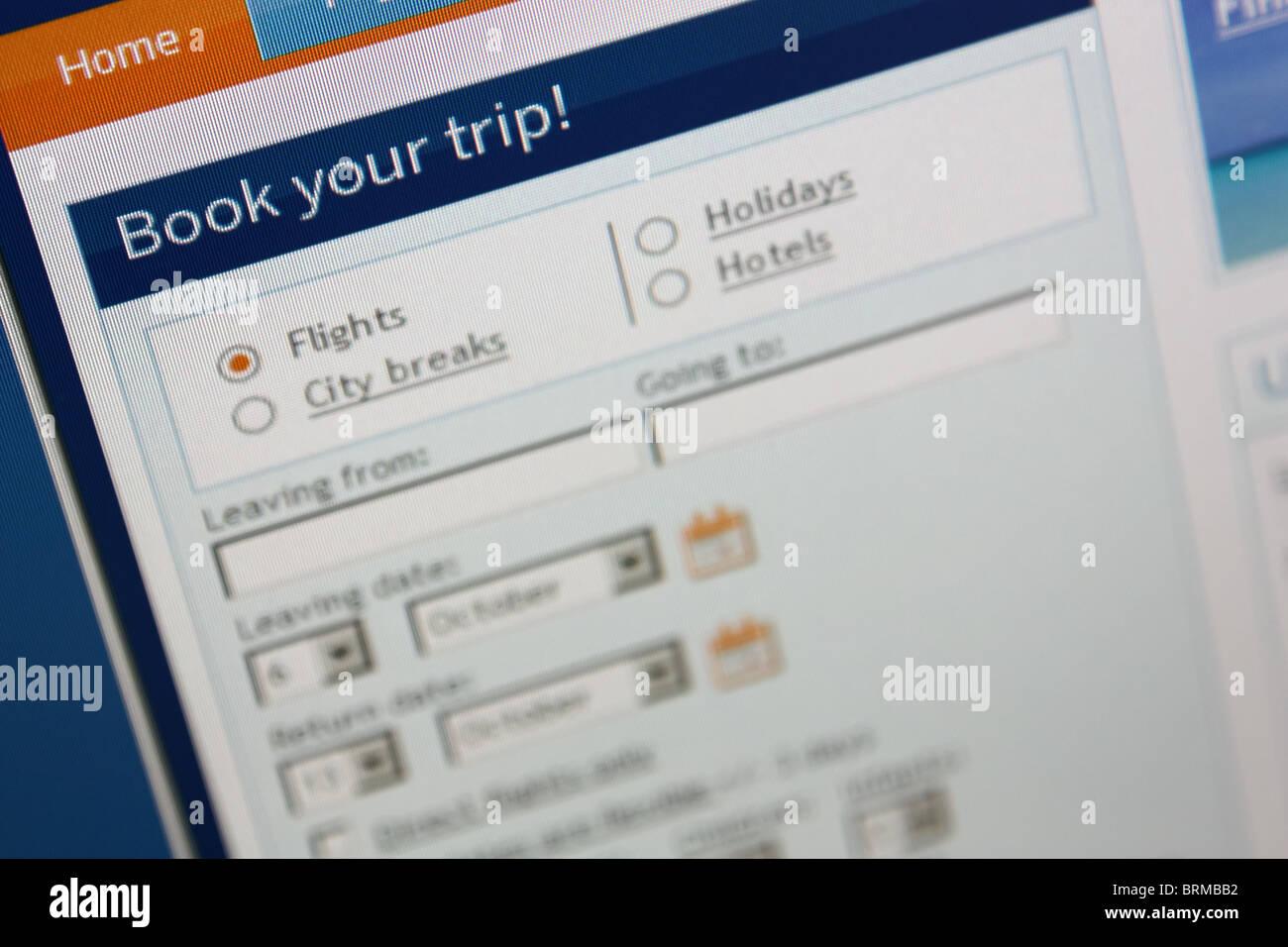 Prenotazione online viaggi viaggio Immagini Stock