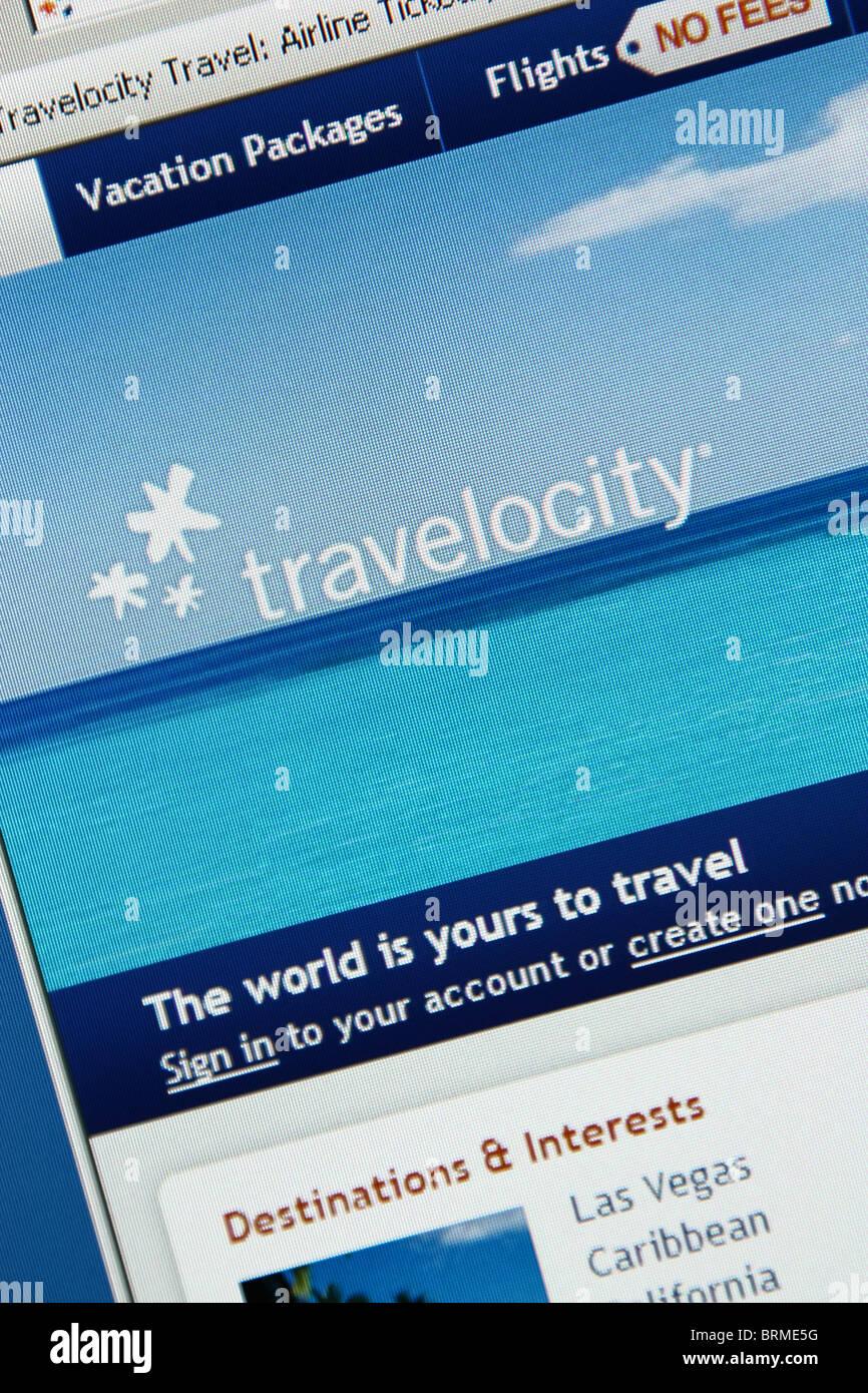 Viaggi online prenotazione vacanza travelocity Immagini Stock