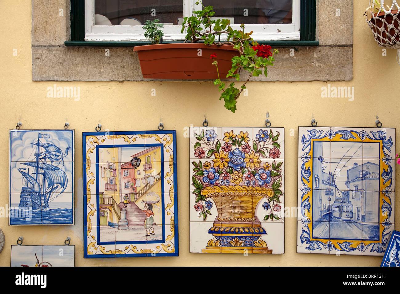 Azulejos de Sintra Portogallo Portogallo Sintra Tile Immagini Stock