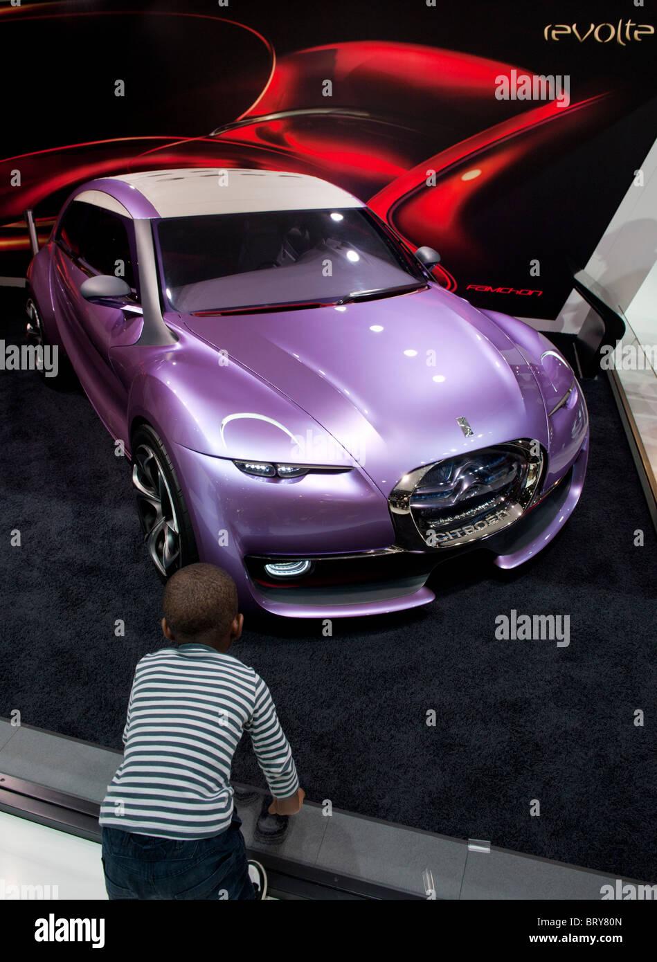 Citroen Revolte concept car al Paris Motor Show 2010 Immagini Stock