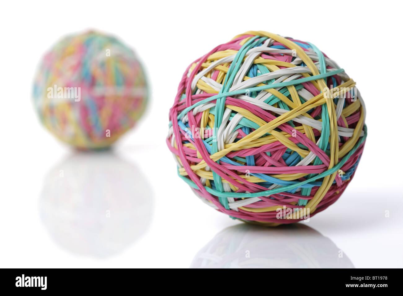 La banda di gomma sfera Immagini Stock