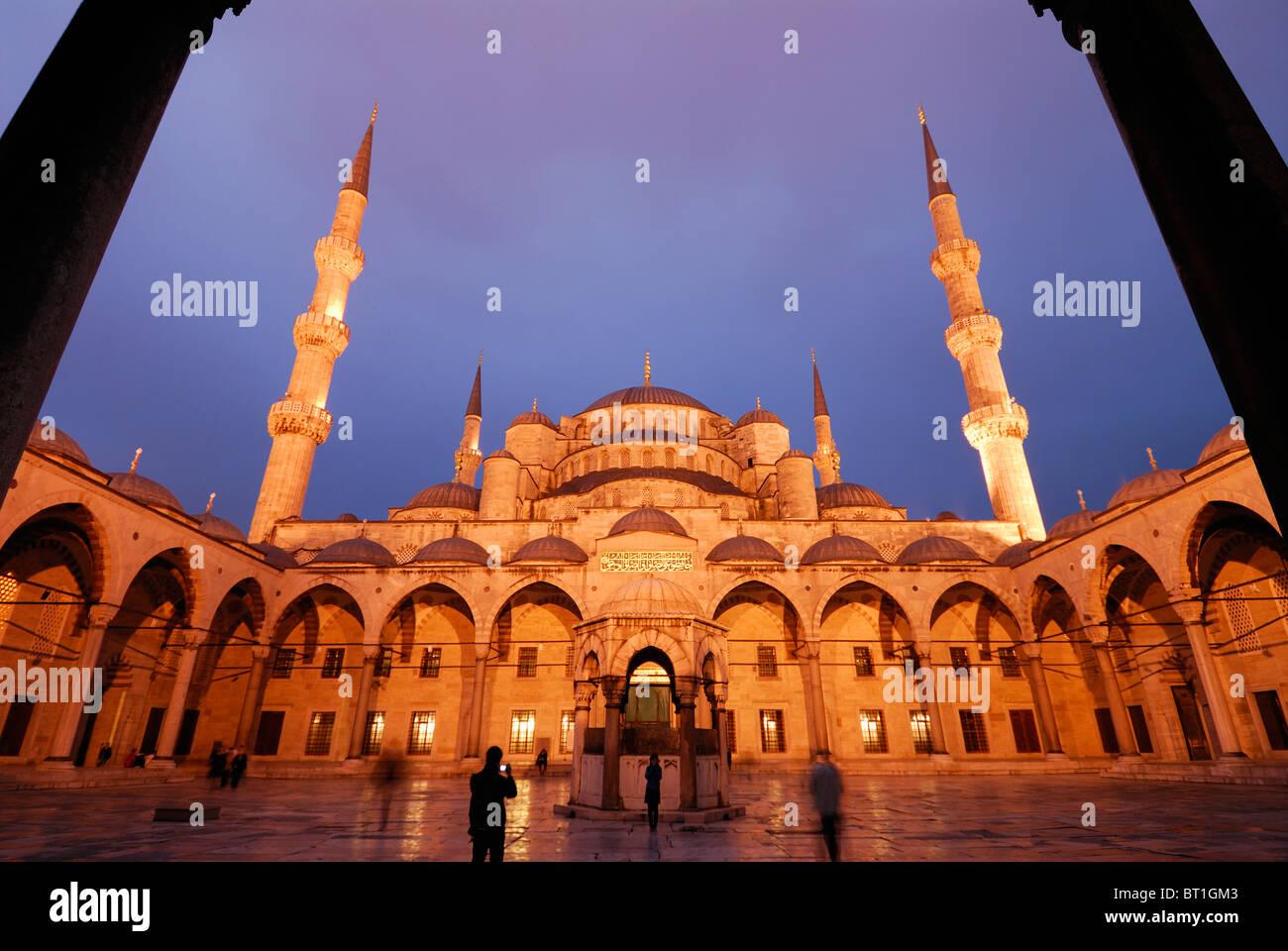 Istanbul. La Turchia. La Moschea Blu di Sultanahmet. Immagini Stock