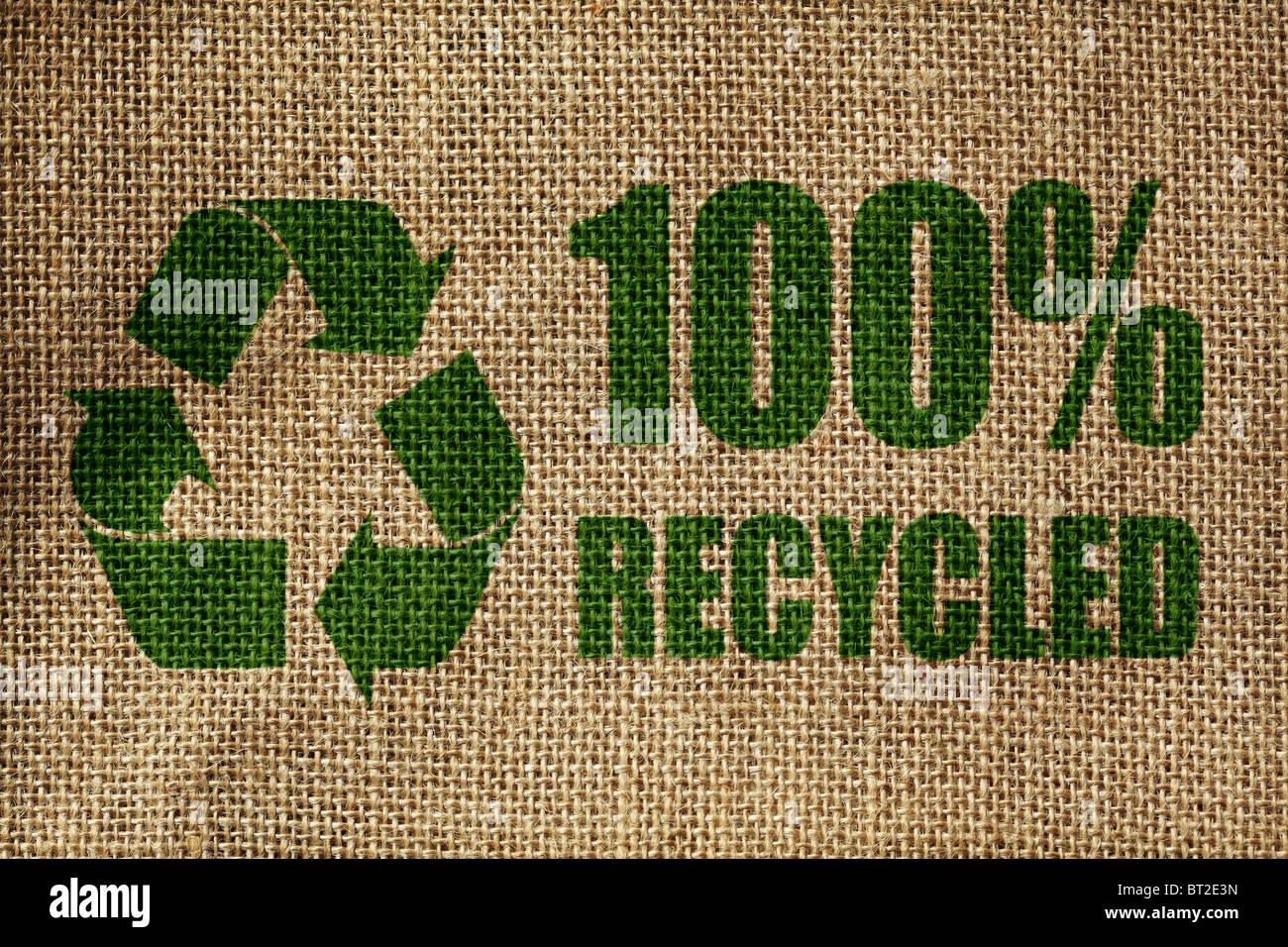 Simbolo di riciclaggio Immagini Stock