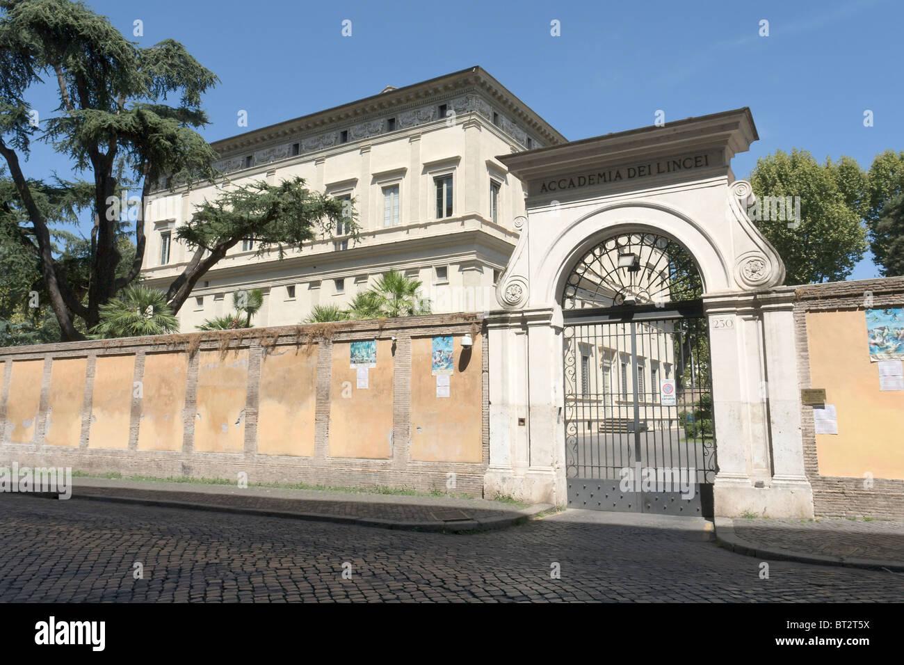 Villa Farnesina, sede dell'Accademia dei Lincei, Roma Immagini Stock