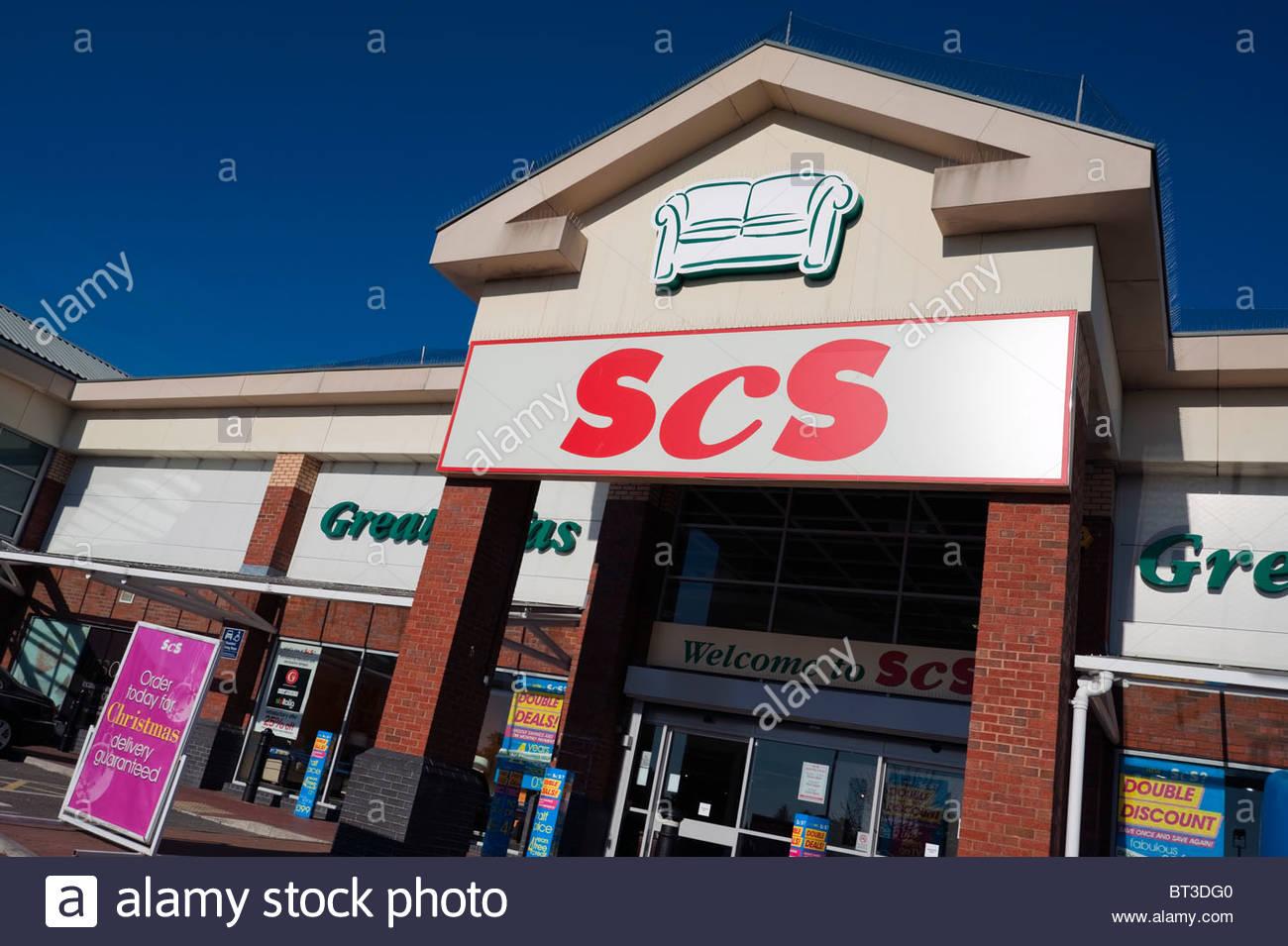 SCS divani furniture store, Cheltenham, Regno Unito. Immagini Stock