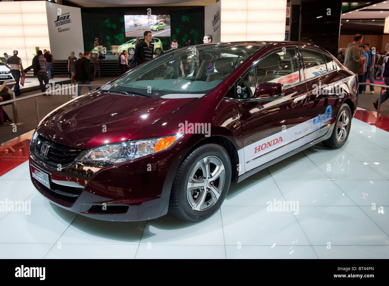 Honda cella a combustibile idrogeno chiarezza auto al Paris Motor Show 2010 Immagini Stock