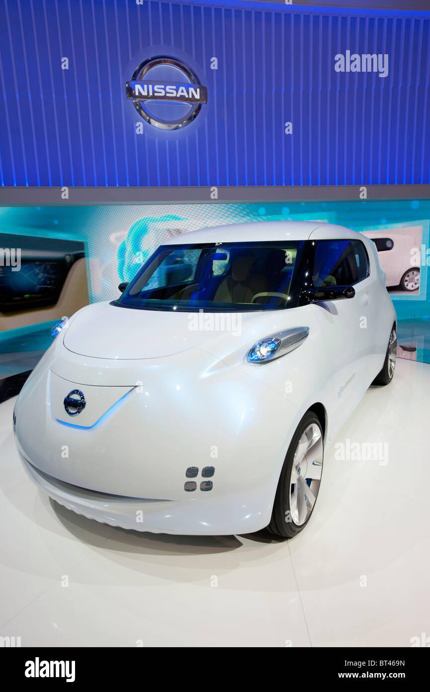 Nissan Townpod zero emission concept car elettrica al Paris Motor Show 2010 Immagini Stock