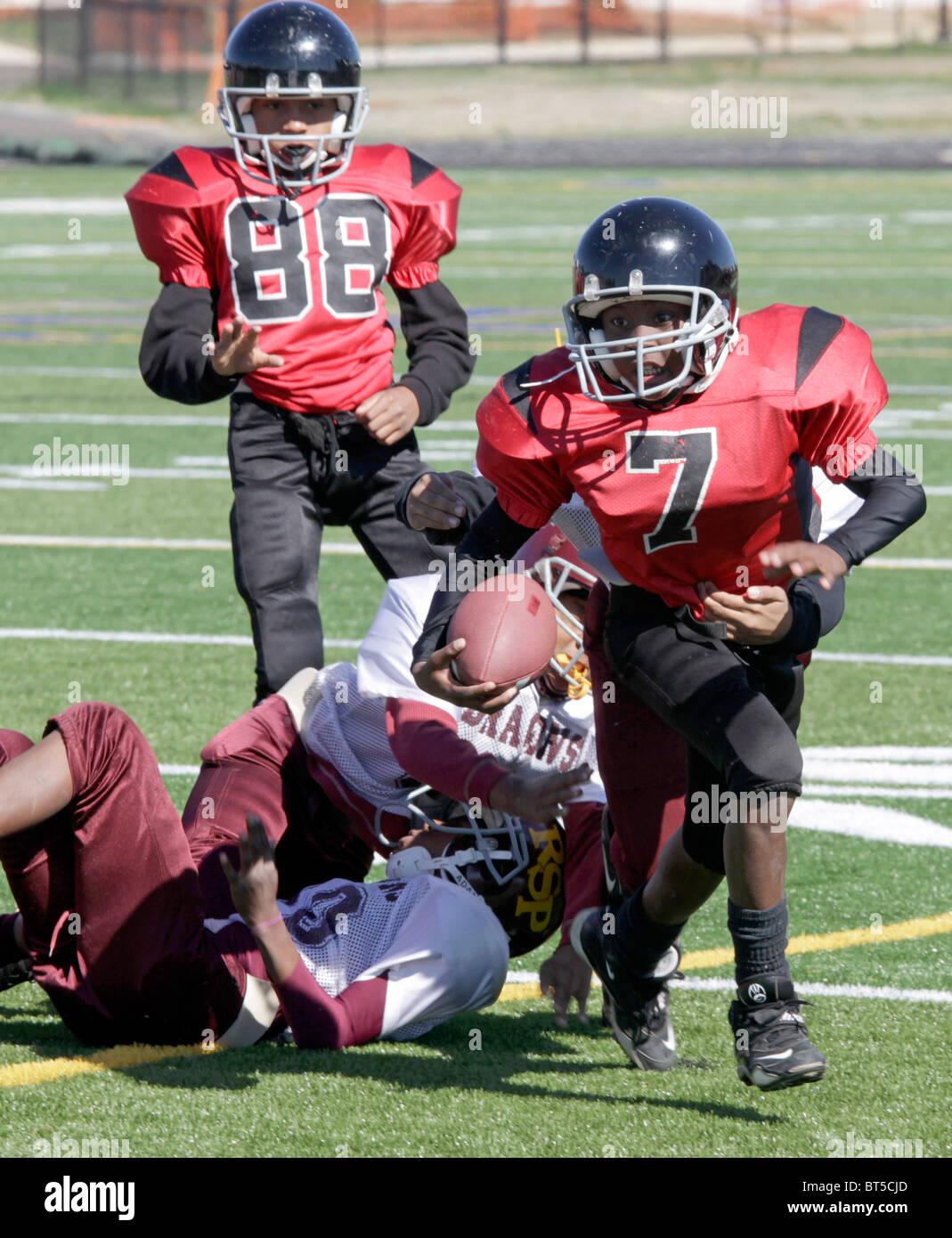 Il football americano inner city partita del campionato di Roanoke, Virginia. Immagini Stock