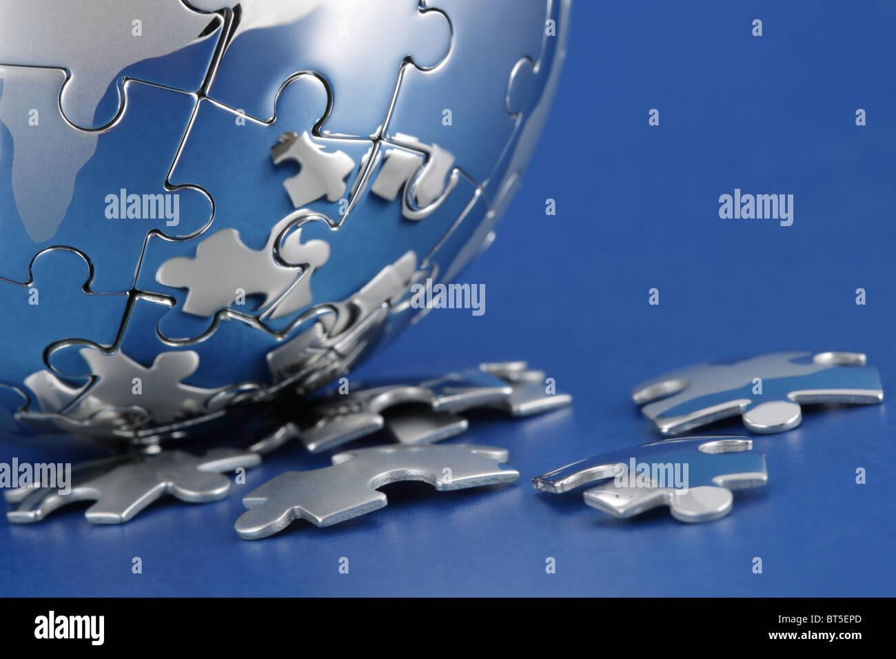 Soluzione globale Immagini Stock