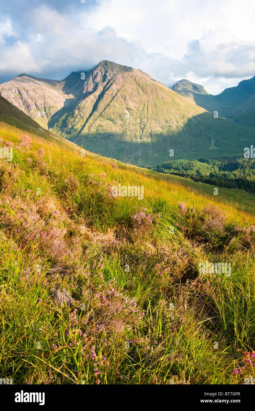 Glencoe vedute panoramiche, Highlands scozzesi, REGNO UNITO Immagini Stock