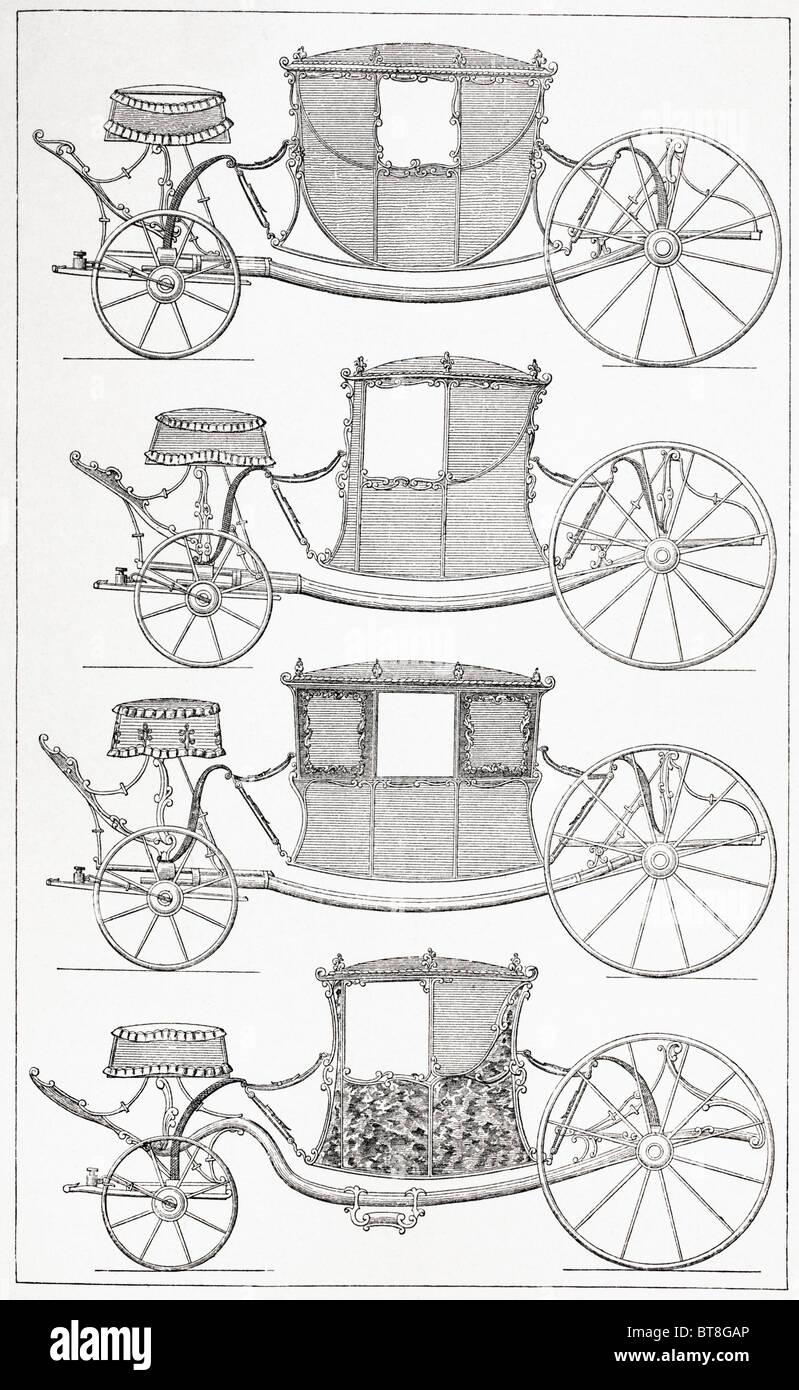 Pullman alla moda del XVIII secolo. Immagini Stock