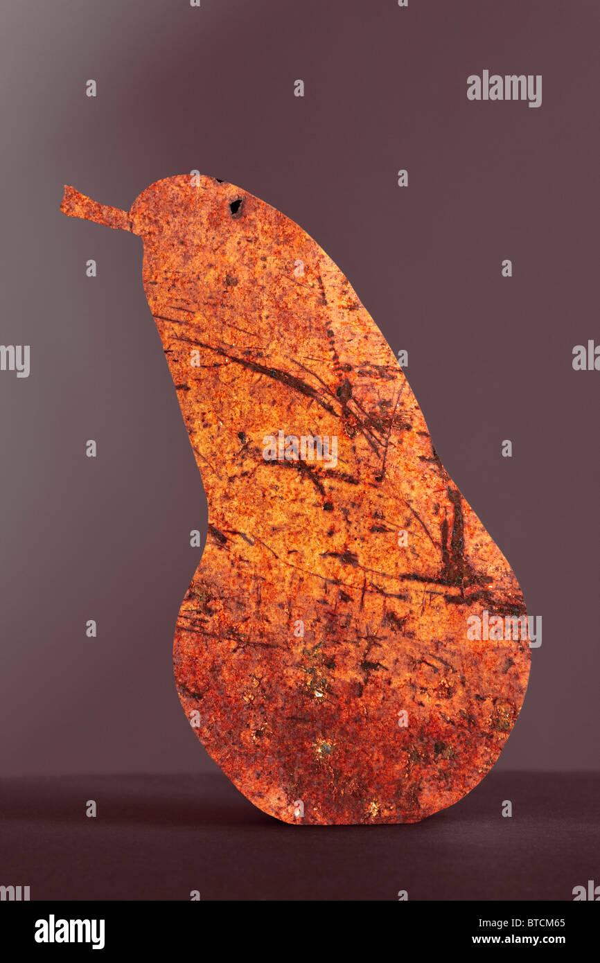 A pera rusty texture selenio su sfondo colorato create in Photoshop Immagini Stock